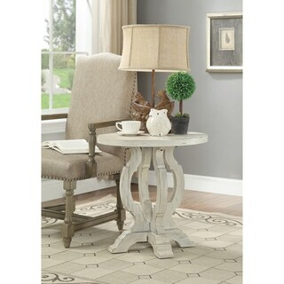 Somette Orchard White Rub Orchard Park Accent Table
