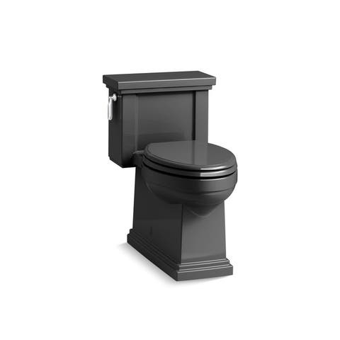 Kohler K-3981 Tresham Comfort Height Skirted 1-Piece Compact Elongated 1.28 GPF Toilet With AquaPiston Flush Technology And Seat