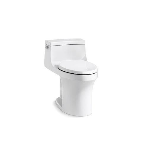 Kohler K-5172 San Souci Comfort Height One-Piece Compact Elongated 1.28 GPF Toilet With AquaPiston Flushing Technology And Seat