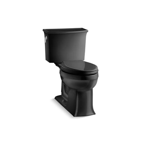 Kohler K-3551 Archer Comfort Height Two-Piece Elongated 1.28 GPF Toilet With AquaPiston Flush Technology, Less Seat