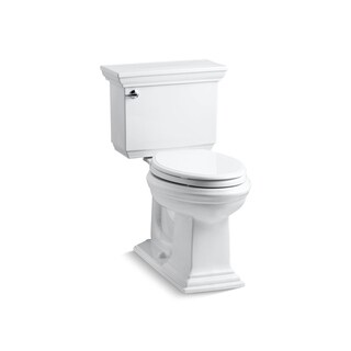 Kohler K-3817 Memoirs Stately Comfort Height Two-Piece Elongated 1.28 GPF Toilet With AquaPiston Flush Technology, Less Seat
