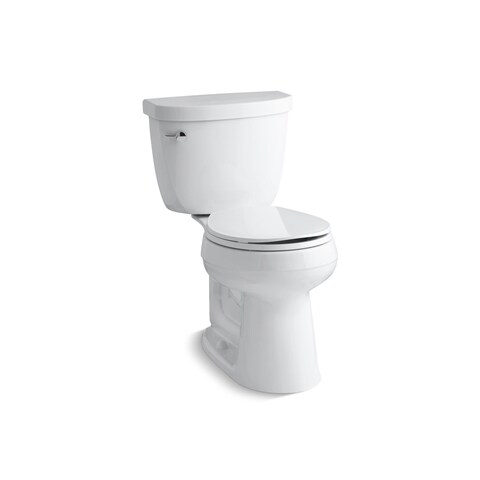 Kohler K-3887 Cimarron Comfort Height Two-Piece Round-Front 1.28 GPF Toilet With AquaPiston Flush Technology, Less Seat