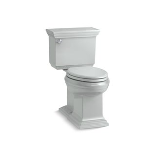 Kohler K-6669 Memoirs Stately Comfort Height Two-Piece Elongated 1.28 GPF Toilet With AquaPiston Flush Technology, Less Seat (Option: Ice grey)