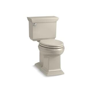 Kohler K-6669 Memoirs Stately Comfort Height Two-Piece Elongated 1.28 GPF Toilet With AquaPiston Flush Technology, Less Seat