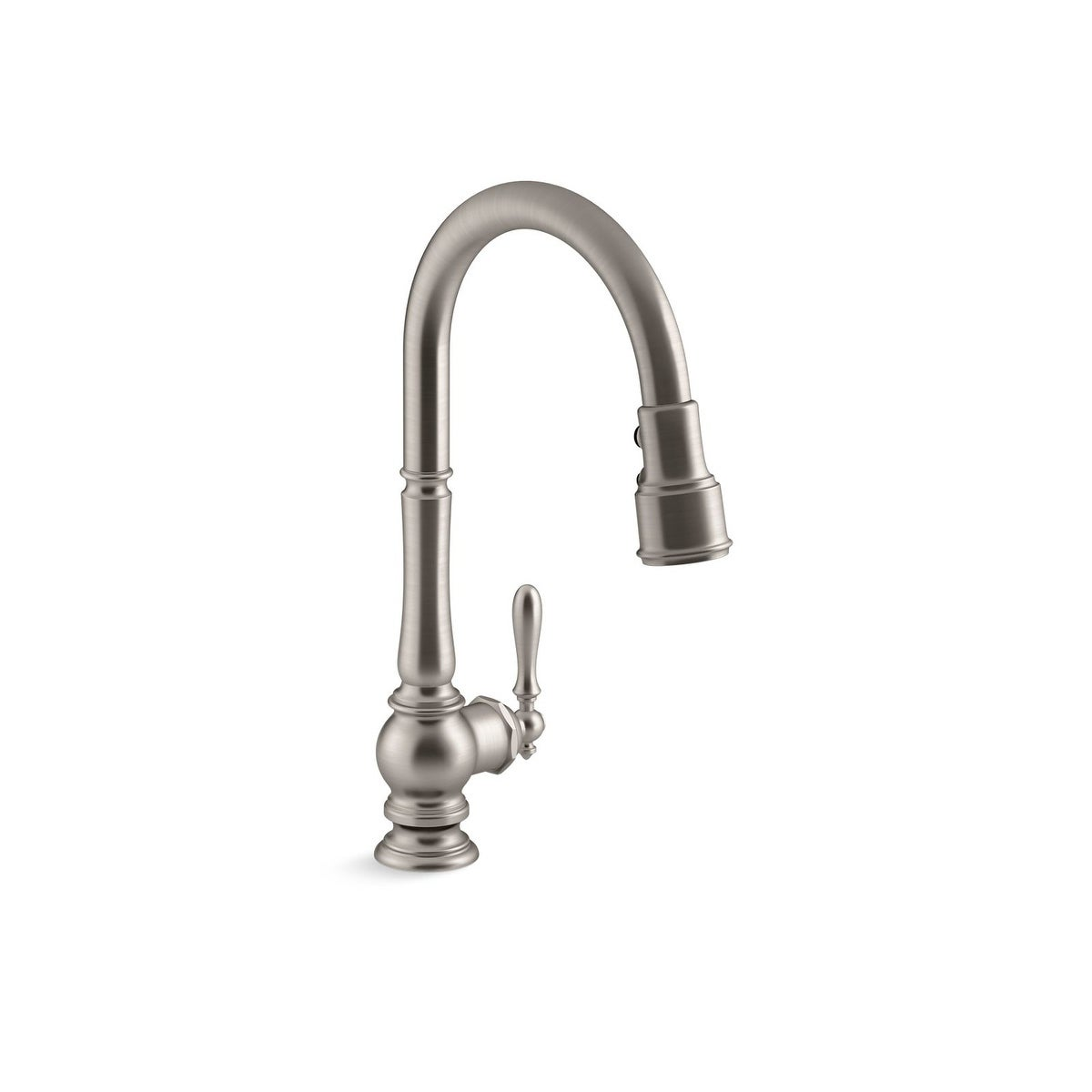 Kohler Artifacts Pullout Spray Single Hole Kitchen Faucet K-99259-2BZ Oil  Rubbed Bronze