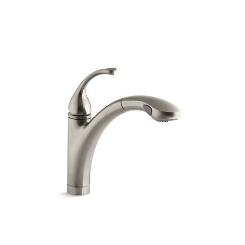 Kohler K-10433 Forté Single-Control Pullout Kitchen Faucet With Color-Matched Sprayhead And Lever Handle
