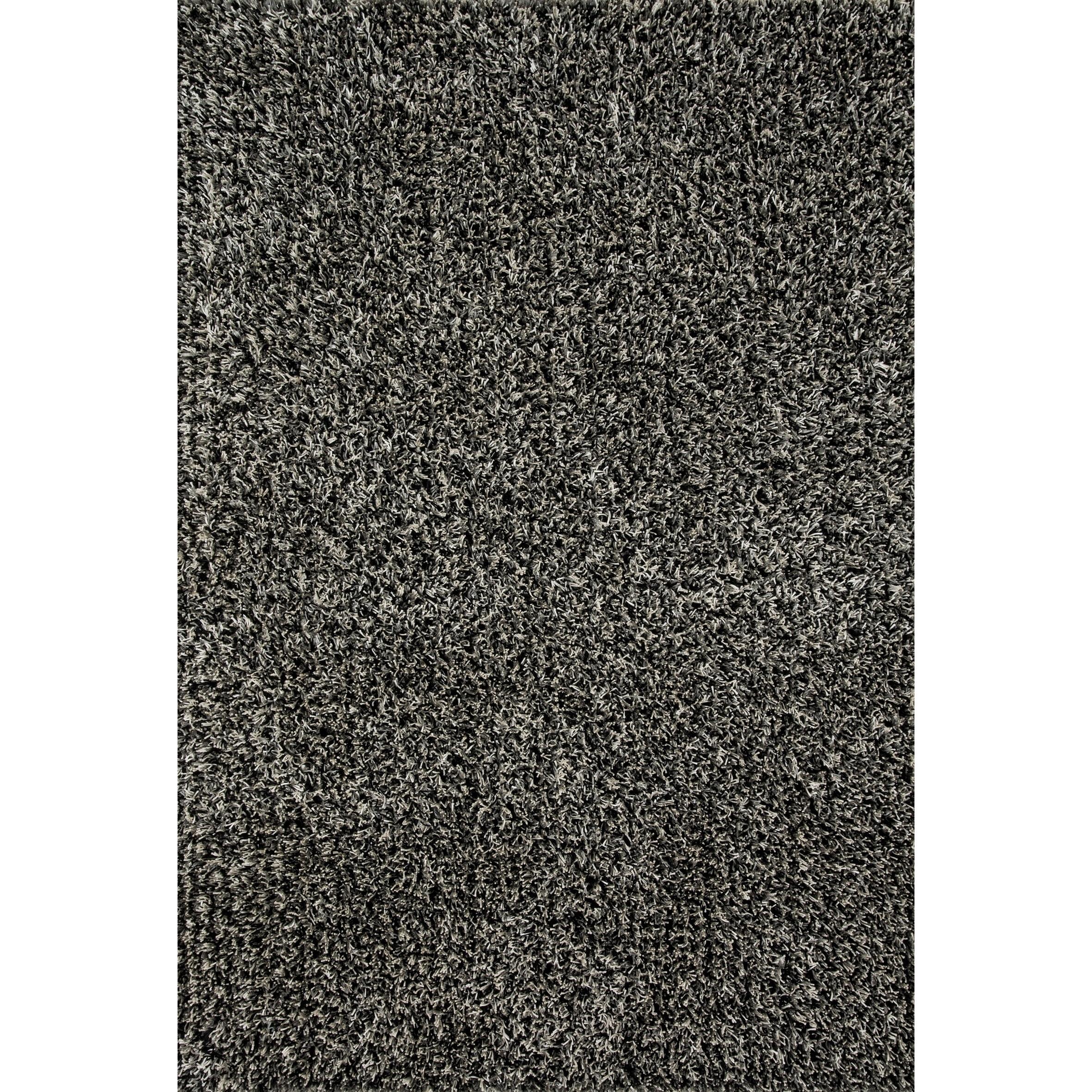 Mid-century Modern Grey/ Black Shag Rug - 36 x 56 (Grey/Black - 36 x 56)