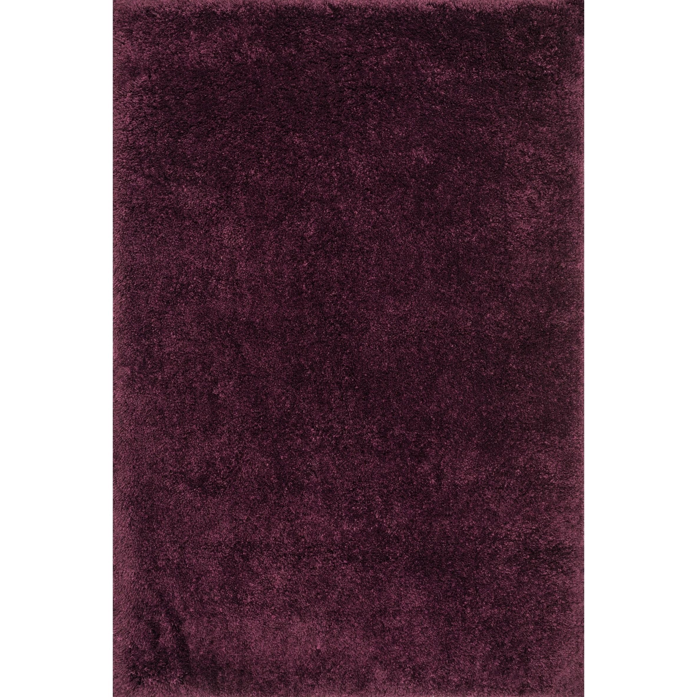 Alexander Home Plush Contemporary Burgundy/Purple Shag Area Rug - 93 x 13 (Prune - 93 x 13)