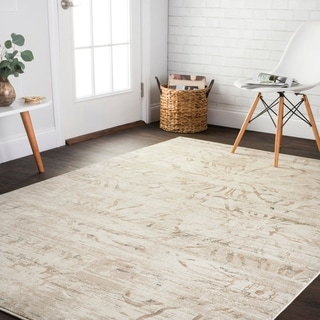 Distressed Vintage Inspired Beige Floral Rug - 12' x 15'
