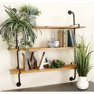 Carbon Loft Carson Rustic 3-shelf Wall Rack