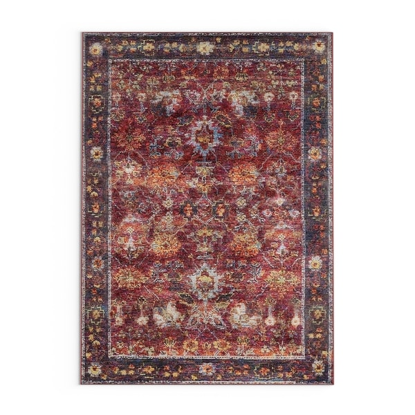 "The Curated Nomad Jose Persian Red/ Purple Area Rug - 3'3"" x 5'2"""