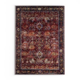 "The Curated Nomad Jose Persian Red/ Purple Area Rug - 6'7"" x 9'6"""