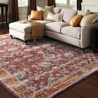 """Pine Canopy Lavender Oriental Red/ Gold Area Rug - 8'6"""" x 11'7"""""""