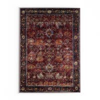 The Curated Nomad Jose Persian Red/ Purple Area Rug - 7' 10' x 10' 10'