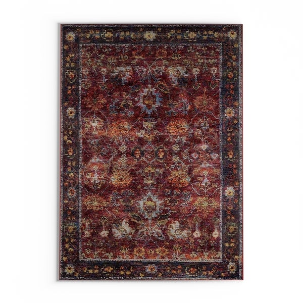 "The Curated Nomad Jose Persian Red/ Purple Area Rug - 7'10"" x 10'10"""