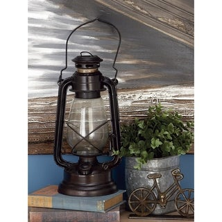 The Gray Barn Well Cottage Antique Oil-rubbed Brass and Glass Lantern (Set of 3)