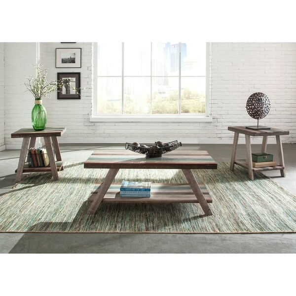 The Curated Nomad Vella Multicolored Table (Set of 3)