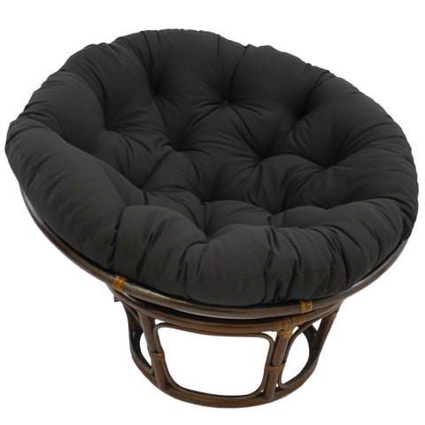 International Caravan Bali Papasan Chair with Solid Cushion
