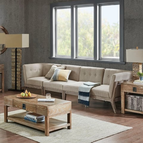 INK IVY Oaktown Tan Sectional Corner Sofa