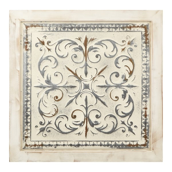 Shop Astonishing Distressed Wood and Metal Square Wall ...