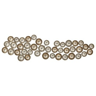 Metal Concave Circles Wall D?cor Gold and Silver