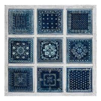 Classic Designing Metal and Wood Wall D?cor, Blue