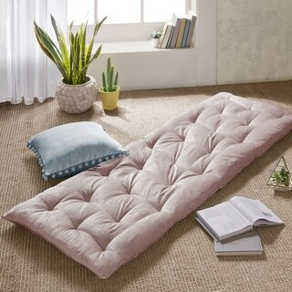 Intelligent Designs Arwen Poly Chenille Lounge Floor Pillow Cushion 2-Color Options