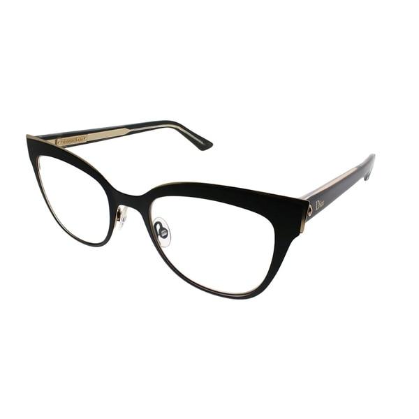 1634e62e34 Dior Cat-Eye Montaigne 11 IEB Women Black Gold Crystal Frame Eyeglasses