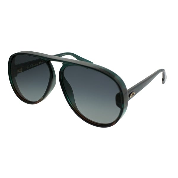 7ca2b2426c0 Shop Dior Aviator Lia JWJ Unisex Green Brown Frame Grey Gradient Lens  Sunglasses - Free Shipping Today - Overstock - 21518838