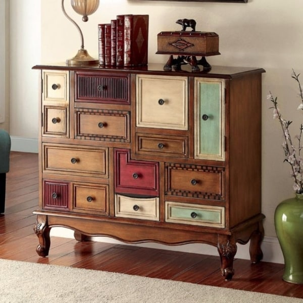 Shop Vintage Style Wooden Accent Chest With Cabriole Legs