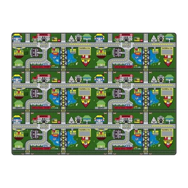 Flagship Carpet Places To Go Rug - 6' x 6' - Multi - 6' x 6'