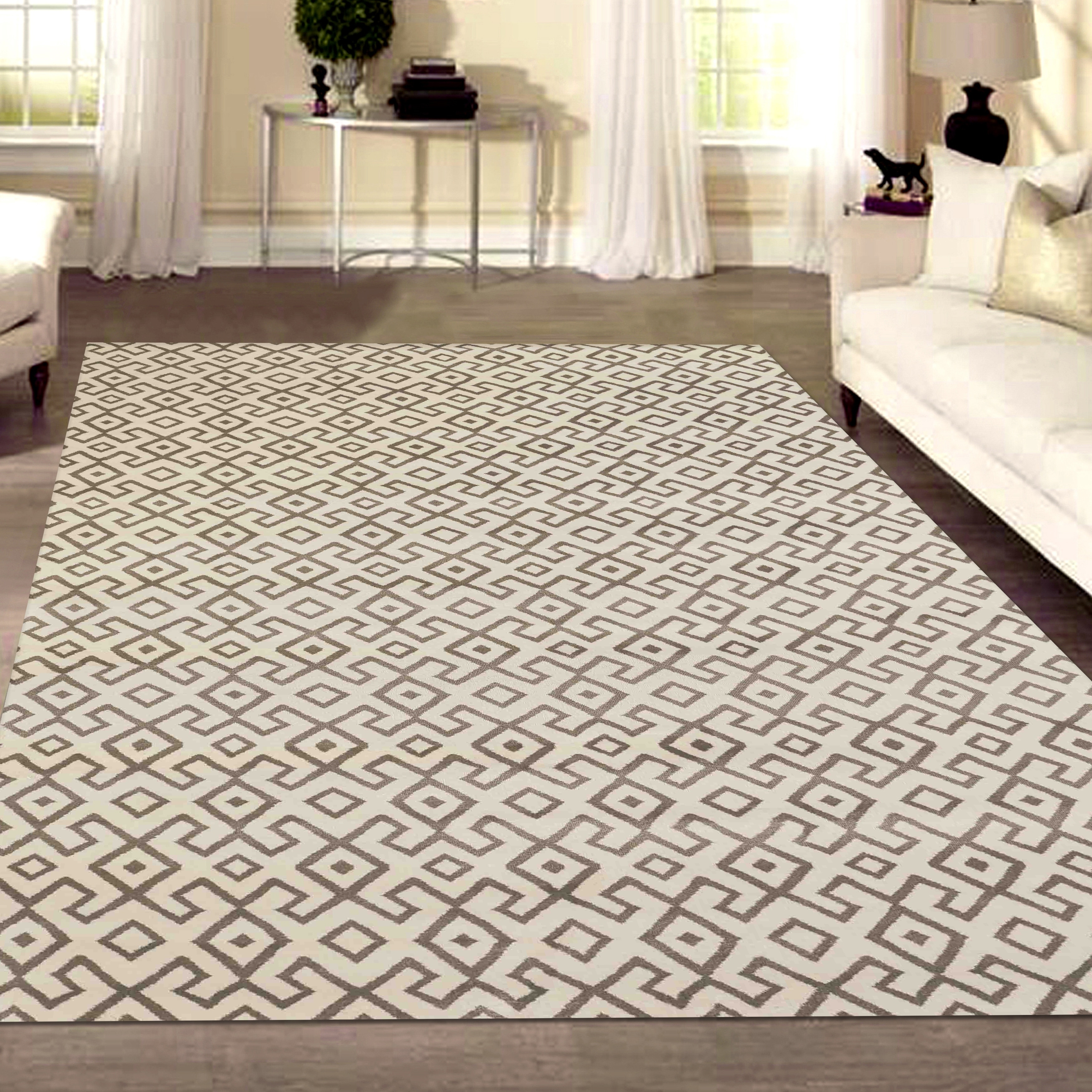 Bronte Disc Area Rug - 710 x 106 (710 x 106 - Ivory)