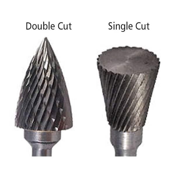 SD-7 Double Cut Carbide Bur Die Grinder Bit 3//4 on 1//4 Shank