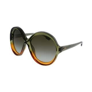 8a74d34e9f Dior Round Bianca LGP Women Green Orange Frame Brown Gradient Lens  Sunglasses