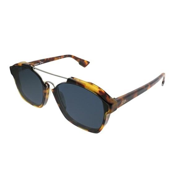 2535cc4c29c Dior Rectangle Abstract YHA A9 Unisex Havana Frame Blue Lens Sunglasses