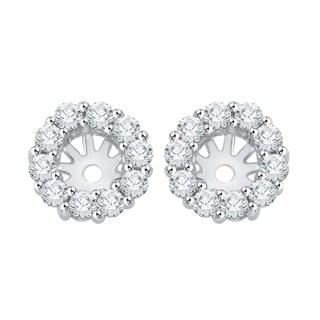 14K White Gold 1/2ct TDW Diamond Earring Jackets ( I-J, I1)