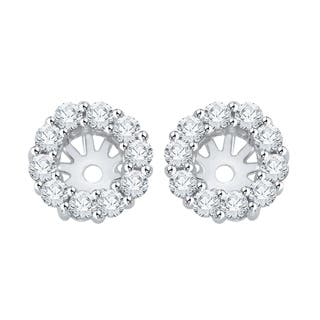 14k White Gold 1 2ct Tdw Diamond Earring Jackets I J I1