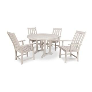 POLYWOOD® Vineyard 5-Piece Nautical Trestle Dining Set