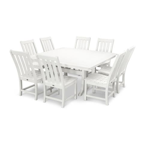 POLYWOOD Vineyard 9-Piece Outdoor Dining Table Set