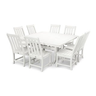 POLYWOOD® Vineyard 9-Piece Outdoor Dining Table Set