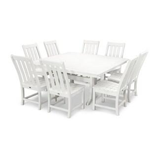 POLYWOOD Vineyard 9-Piece Outdoor Dining Table Set
