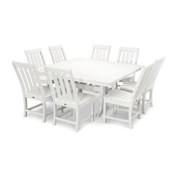 POLYWOOD® Vineyard 9-Piece Outdoor Dining Table Set