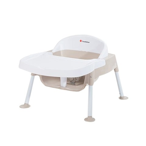 """Foundations Secure Sitter Feeding Chair 5"""" Seat Height in White and Tan"""