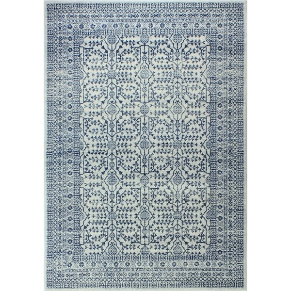 """Noelle Ivory/Blue Transitional Area Rug - 8'6"""" x 11'6"""""""