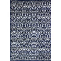 "Roxana Dark Blue Transitional  Area Rug - 8'6"" x 11'6"""