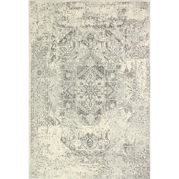 """Digna Ivory/Grey Transitional Area Rug - 5' x 7'6"""""""
