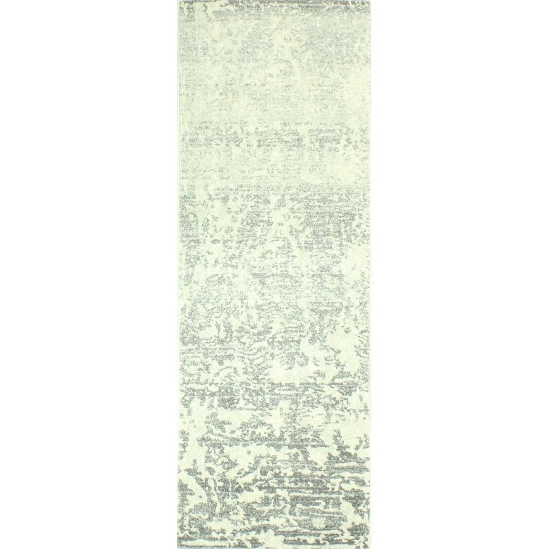 Aveline Ivory/Grey Transitional  Area Rug - 26 x 8 Runner (Ivory/Grey - 26 x 8 Runner)