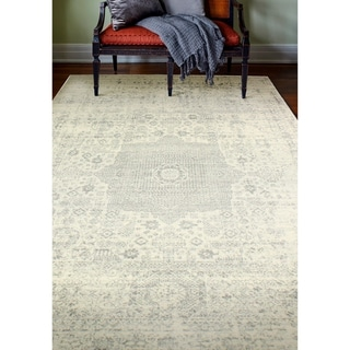 Fanny Ivory/Silver Transitional  Area Rug - 5 x 76 (5 x 76 - Ivory/Silver)
