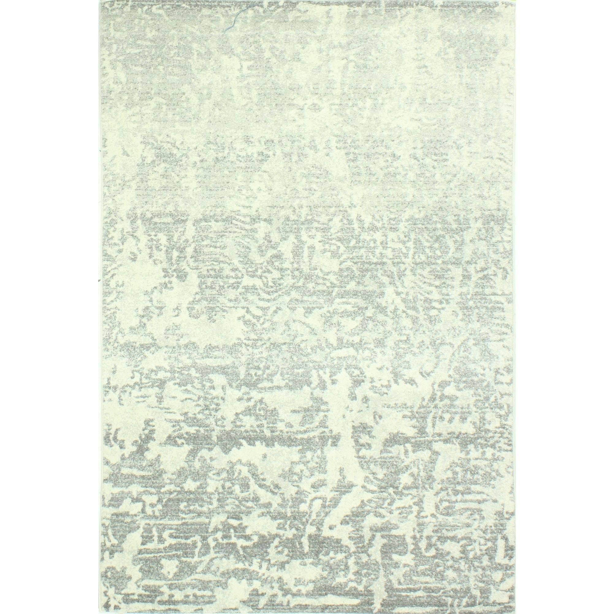 Aveline Ivory/Grey Transitional  Area Rug - 5 x 76 (5 x 76 - Ivory/Grey)