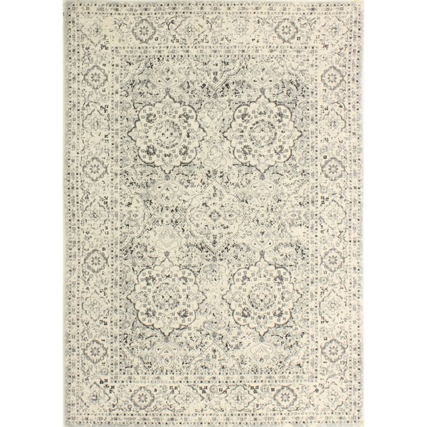 "Alberta Silver Transitional Area Rug - 3'6"" x 5'6"""